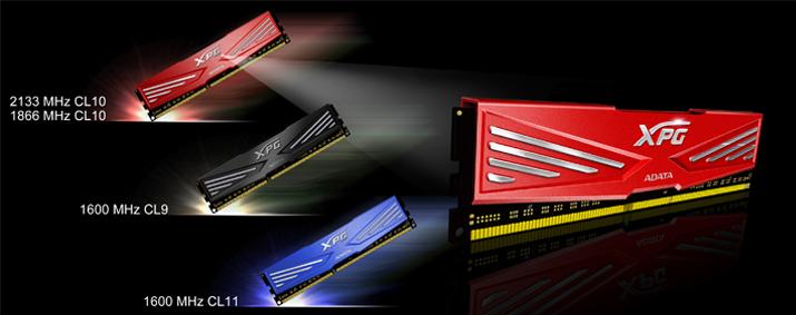 به سرعت نور،حافظهی رم XPG V1 DDR3 ایدیتا به خُنَکای قله