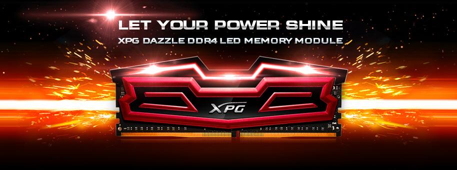 حافظهی رم اورکلاک XPG Dazzle DDR4 LED ایدیتا