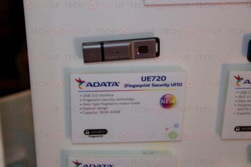 فلش جدید ای دیتا ADATA UE720 با قفل امنیتی اثر انگشت