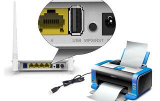 راهاندازی پرینتر به مودم تندا از طریق پورت USB