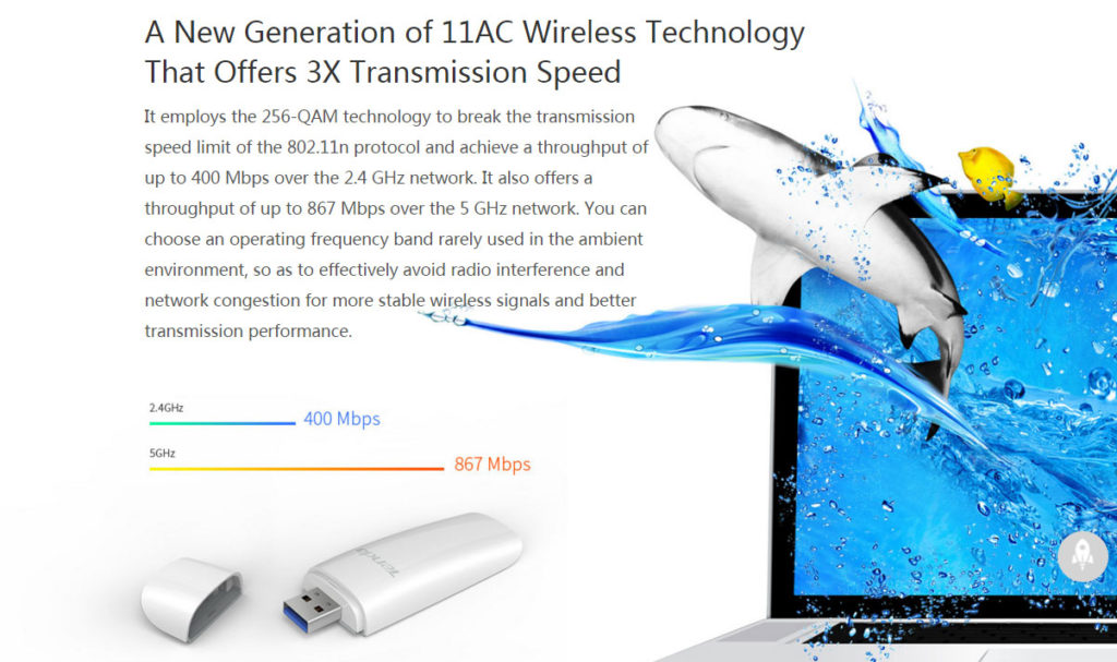 آداپتور شبکه USB بیسیم فوق پرسرعت U12