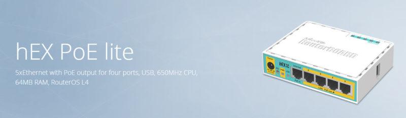 RB750UPr2 با نام تجاری hEX PoE lite