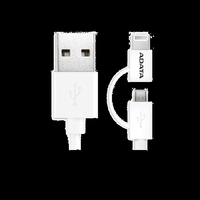 کابل تبدیل USB به لایتنینگ و MicroUSB ای دیتا طول 1 متر