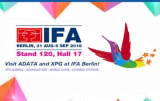 حضور ADATA با محصولاتی جالب و هیجان¬انگیز در IFA 2018