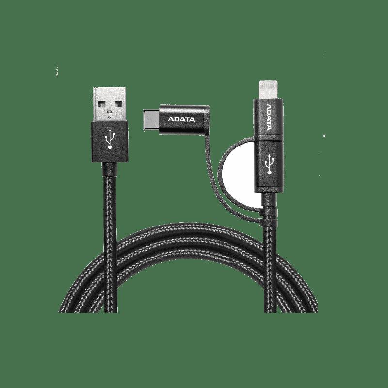 کابل تبدیل USB سه در یک ای دیتا