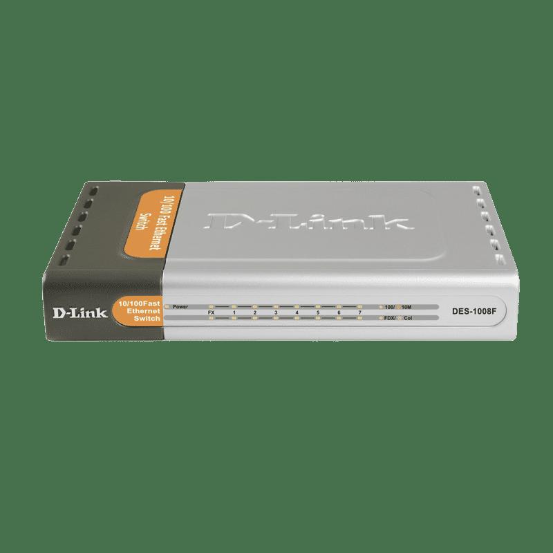 سوییچ غیرمدیریتی 8 پورت مدل DES-1008f دی-لینک