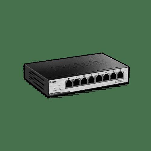 سوییچ هوشمندDGS-1100-08PD دارای هشت پورت گیگابیتی است .