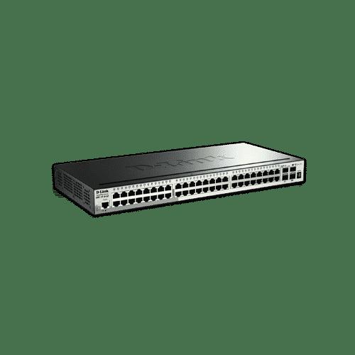 سوییچ DGS-1510-52 دارای 48 پورت گیگابیتی شبکه ، 2 پورت گیگابیتی SFP و 2 پورت SFP+ 10G می باشد