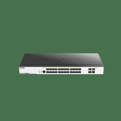 سوییچDGS-3000-28XS دارای 24 پورت گیگابیتی SFP و 4 پورت +10G SFP است.