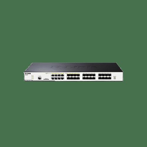سوییچ DGS-3120-24SC دارای 16 پورت SFP و 8 پورت ترکیبی 1000BASE-T/SFP می باشد