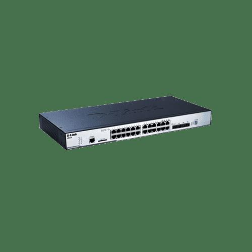 سوییچ DGS-3120-24TC دارای 20 پورت گیگابیتی شبکه و 4 پورت ترکیبی BASE-T/SFP1000 می باشد