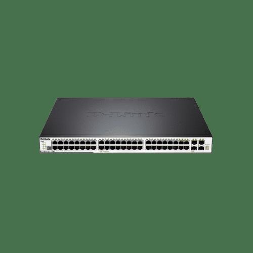 سوییچ DGS-3120-48PC دارای 44 پورت گیگابیتی شبکه و 4 پورت ترکیبی BASE-T/SFP1000 است