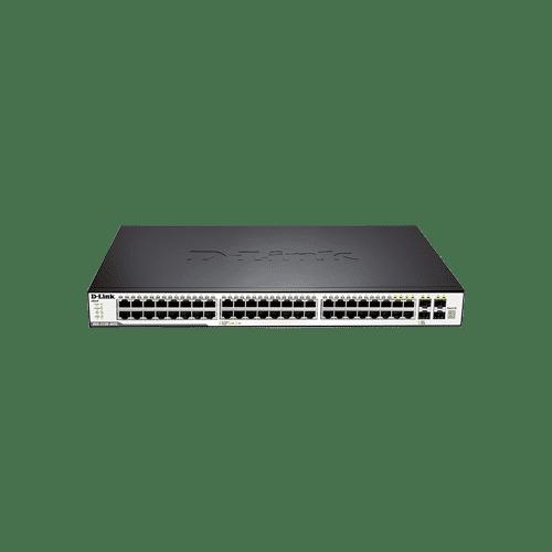 سوییچ DGS-3120-48TC دارای 44 پورت گیگابیتی شبکه و 4 پورت ترکیبی 1000BASE-T/SFP می باش