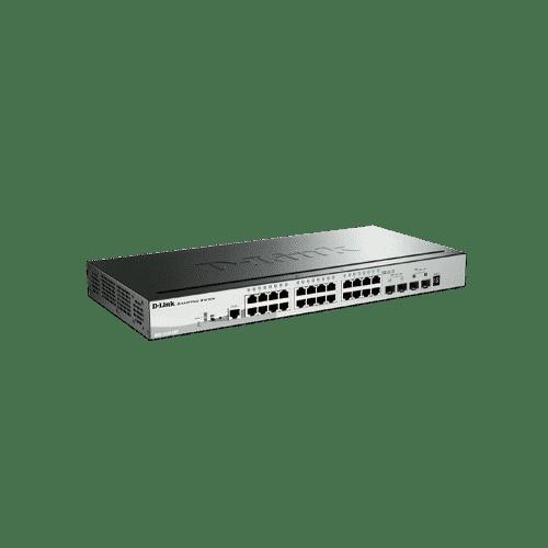 سوییچ DGS-1510-28P دارای 24 پورت PoE گیگابیتی شبکه ، 2 پورت گیگابیتی SFP و 2 پورت SFP+ 10G می باشد