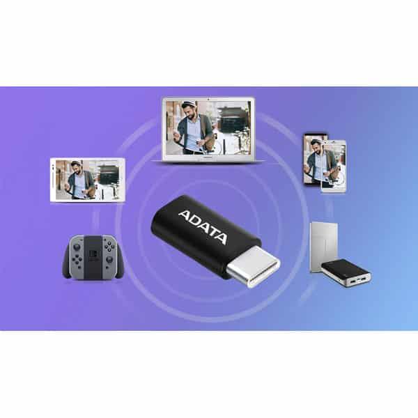مبدل USB-C به Micro USB 2.0 ای دیتا