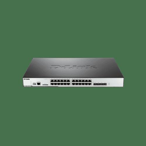 DWS-3160-24PC دارای 20 پورت گیگابیتی و 4 پورت ترکیبی است