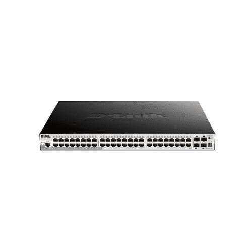 DGS-1510-52XMP دارای ۴۸ پورت PoE با ظرفیت 30W به ازای هر پورت