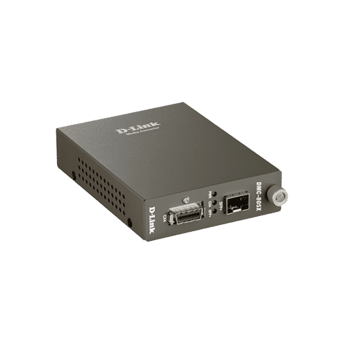 مبدلDMC-805X سیگنال های10G CX4 را به سیگنال های 10G SFP+ fiber تبدیل میکند