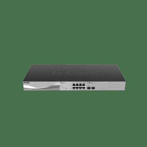 سوییچ DXS-1100-10TS دارای ۸ پورت ۱۰ گیگابیتی شبکه و ۲ پورت+SFP است.