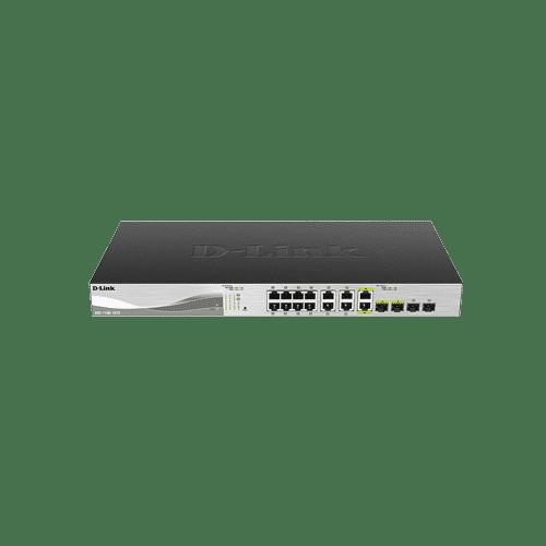 سوییچ DXS-1100-16TC دارای 12 پورت 10 گیگابیتی شبکه ,دو پورت ترکیبی+10GBASE-T/SFPو دو پورت +SFP است
