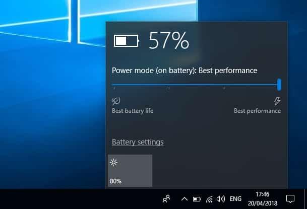 گزینهی Power Performance را در بخش تنظیمات مربوط به Power