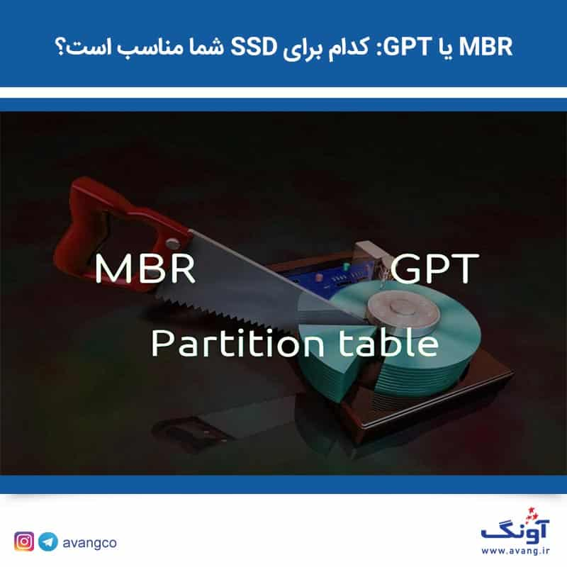 MBR یا GPT: کدام برای SSD شما مناسب است؟   آونگ