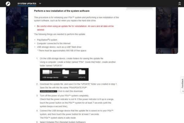 آخرین آپدیت سیستم عامل PS4 را از سایت Sony