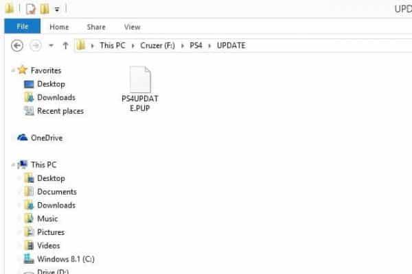 چگونگی نصب یک SSD در PS4 Pro SSD در پوشه ی UPDATE جای دهید