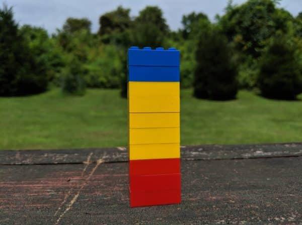 تعداد رنگها را بر روی هر بلوک