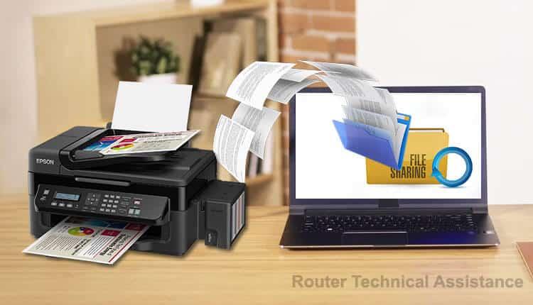 شیر کردن فایل فولدر و پرینتر در شبکه