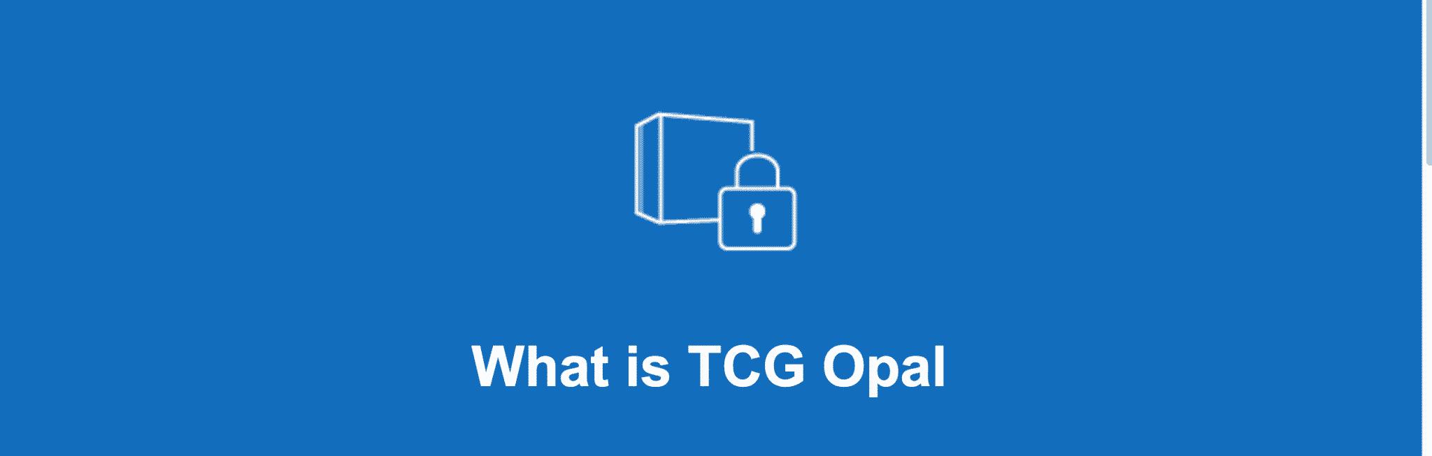 دیکشنری ای دیتا: TCG Opal چیست؟
