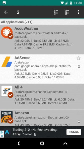 انتخاب همزمان چندین برنامه در Link2SD