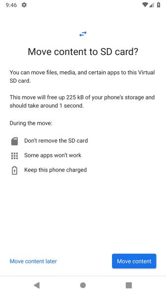 انتقال فایل به کارت SD