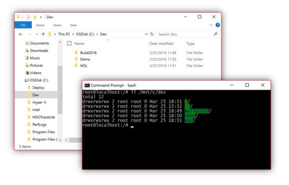 قابلیت bash در ویندوز 10