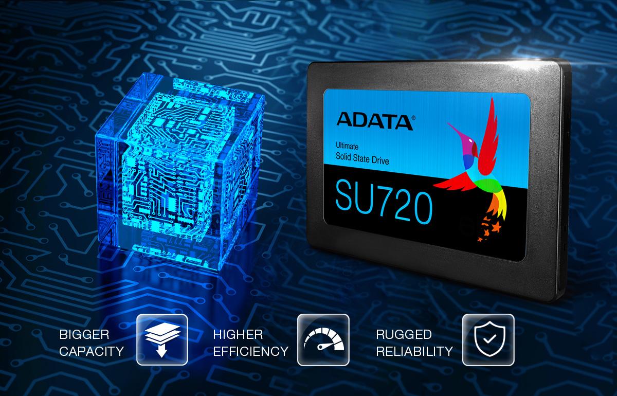 استفاده از تکنولوژی 3D NAND در درایو اس اس دی sU720
