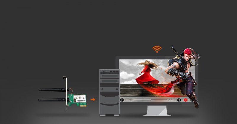 سرعت بی سیم 300Mbos کارت شبکه w322e تندا