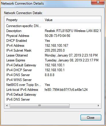 دریافت IP جدید
