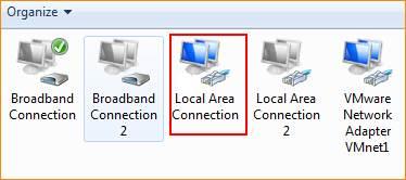 تنظیمات کامپیوتر برای IP استاتیک