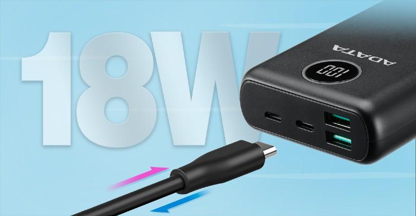 USB Type-C پاوربانک P20000QCD