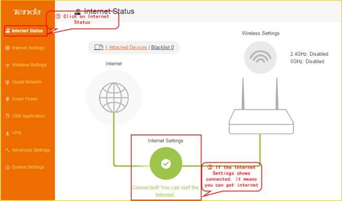 چک کردن اتصال اینترنت