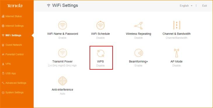 مرحله دوم استفاده از قابلیت WPS روتر تندا