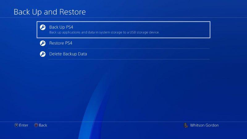 بکاپ گرفتن از اطلاعات بازیها ارتقا PS4 به SSD