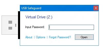 نرم افزار رمزگذاری USB Safeguard