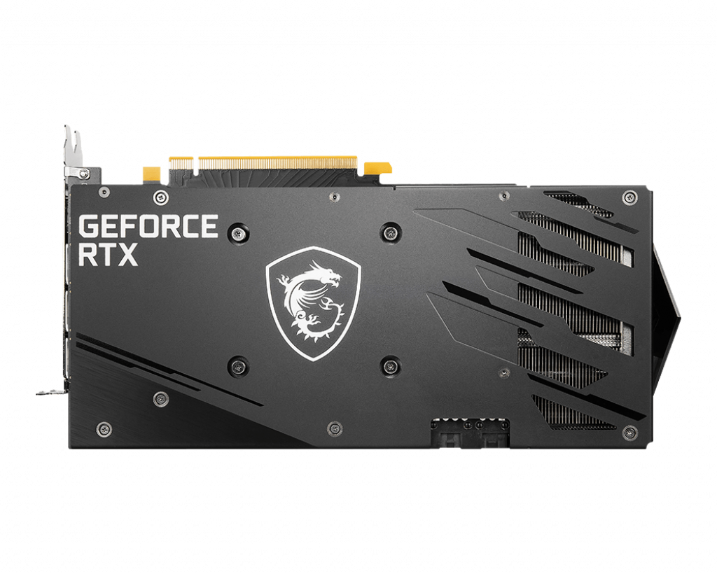 بک پلیت فلزی کارت گرافیک ام اس آی GeForce RTX 3060 GAMING X 12G