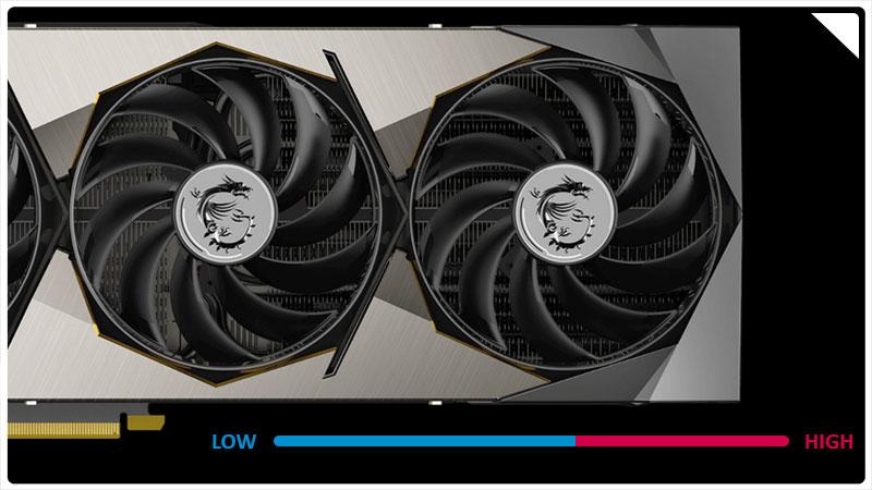 خاموش شدن فنها در دمای پایین کارت گرافیک