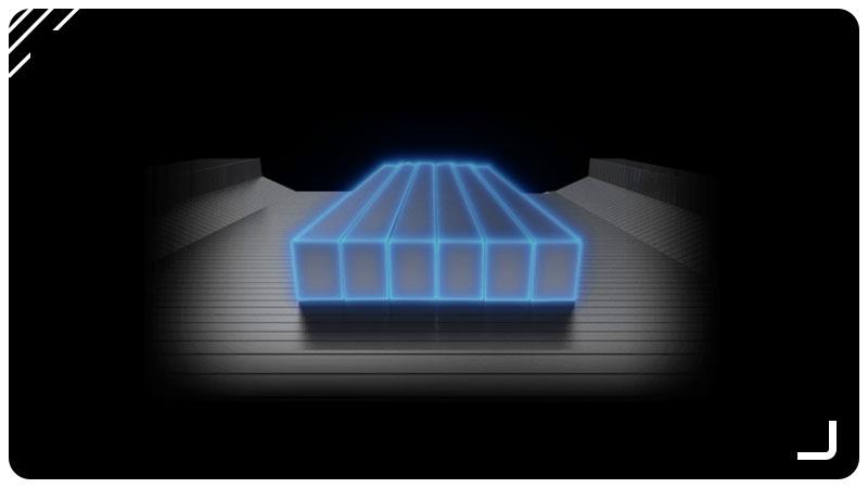 تصویر کانالهای جریان هوا برای حداکثر انتقال حرارت در سیستم حرارتی TRI FROZR 2.0