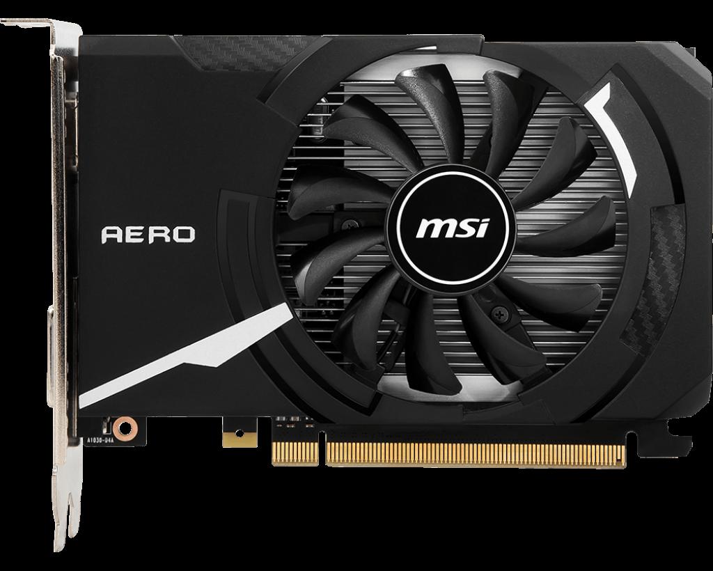 نمای روبروی کارت گرافیک ام اس آی GeForce GT 1030 AERO ITX 2GD4 OC