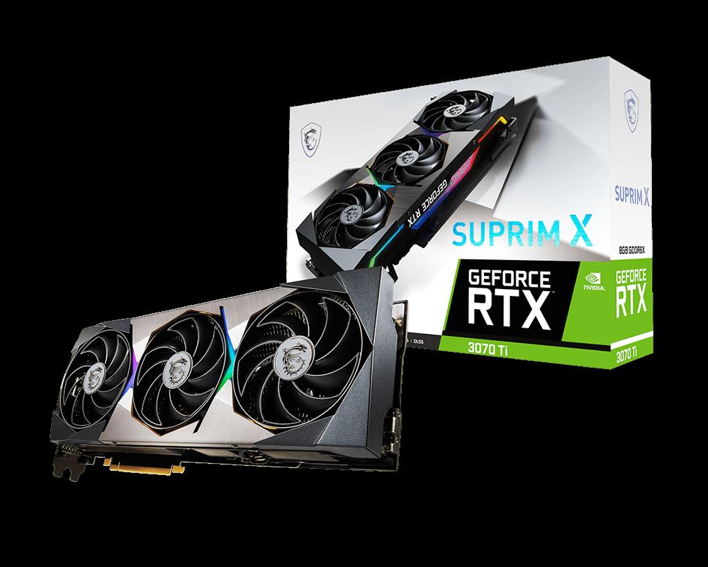 بسته بندی کارت گرافیک GeForce RTX 3070 Ti SUPRIM X 8G