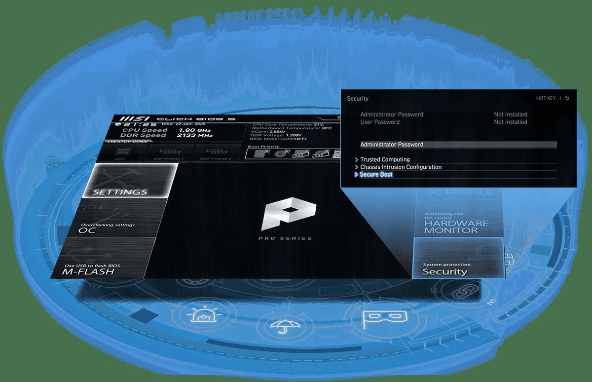 بخش امنیت بایوس،TPM، رمز عبور بایوس و تشخیص باز شدن کیس