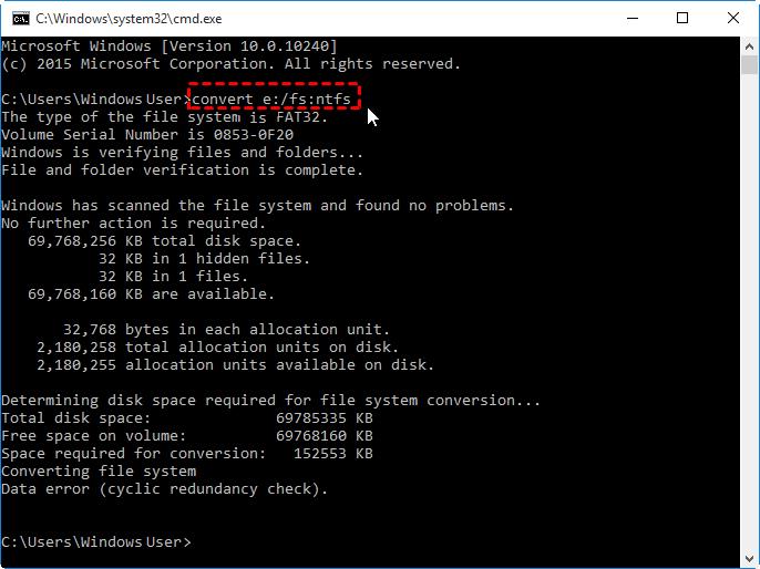 حذف محدودیت فایل FAT32